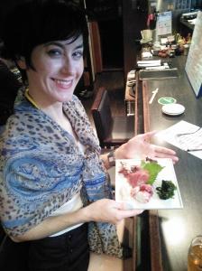 Sashimi at a local bar