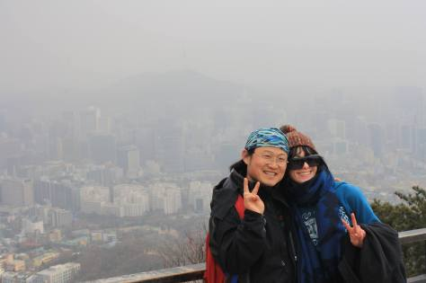 Warren and tash hiking seoul fortress wall